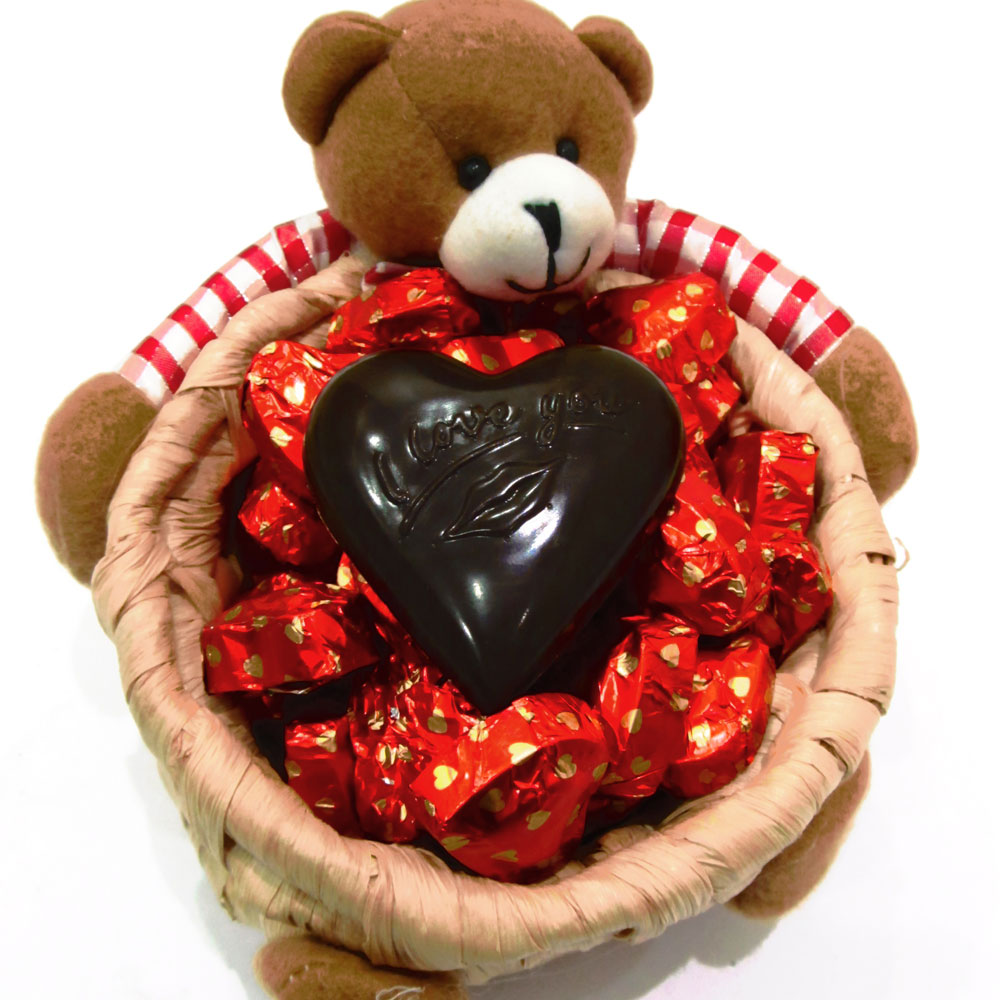 Teddy's warmth wrapped chocolates