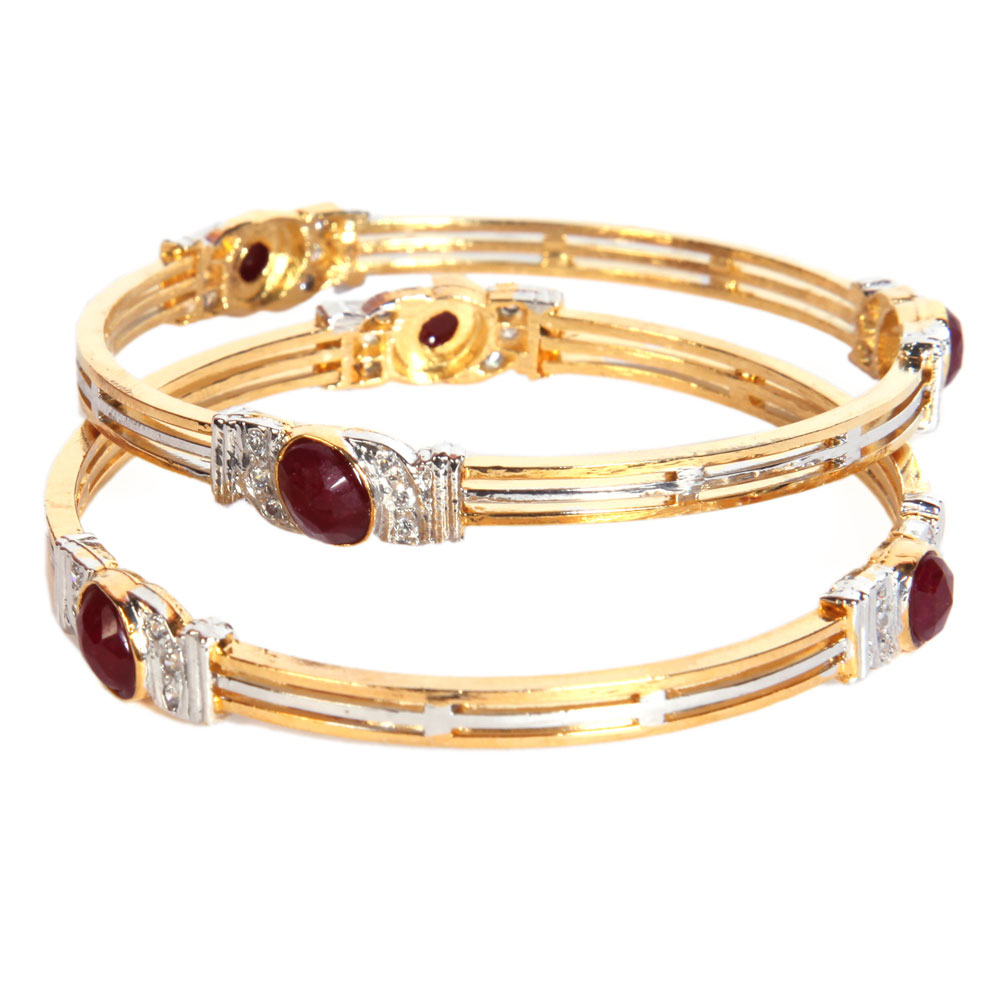 3 line metallic bangles