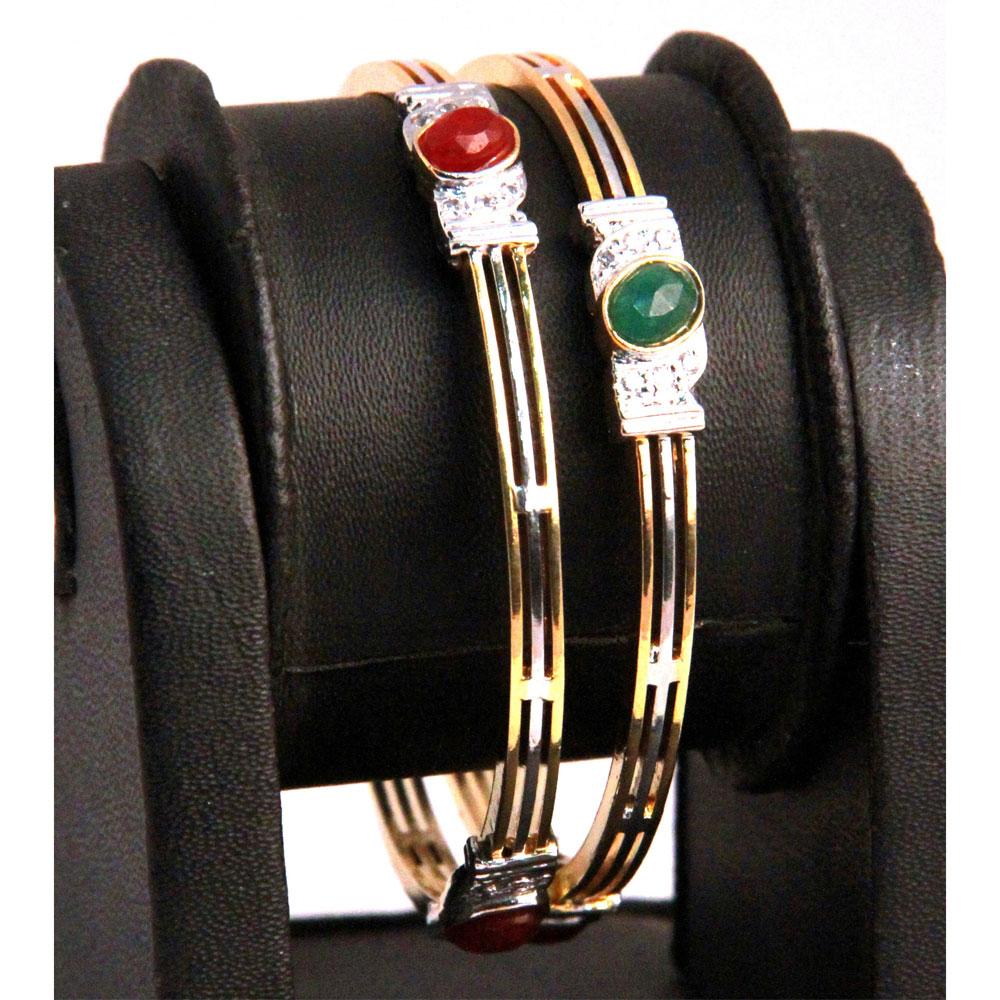 3 lined designer bangles