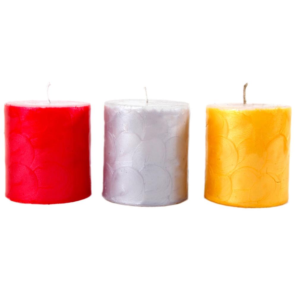 3 Piece Decorative Color Candles