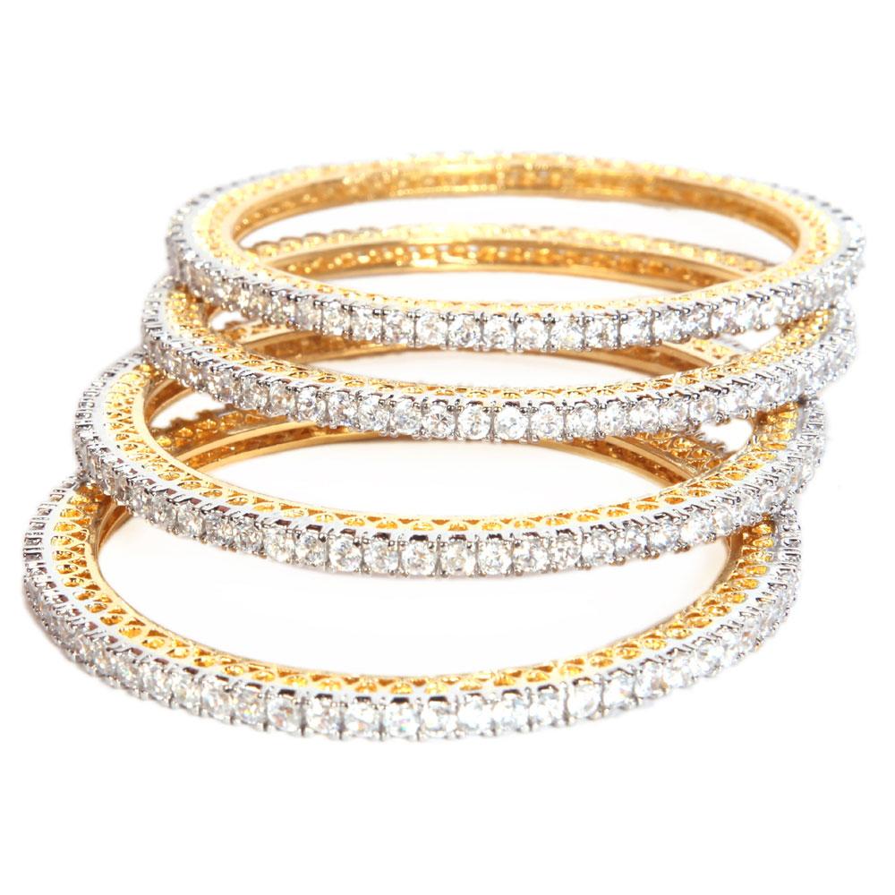4 line glittered bangles
