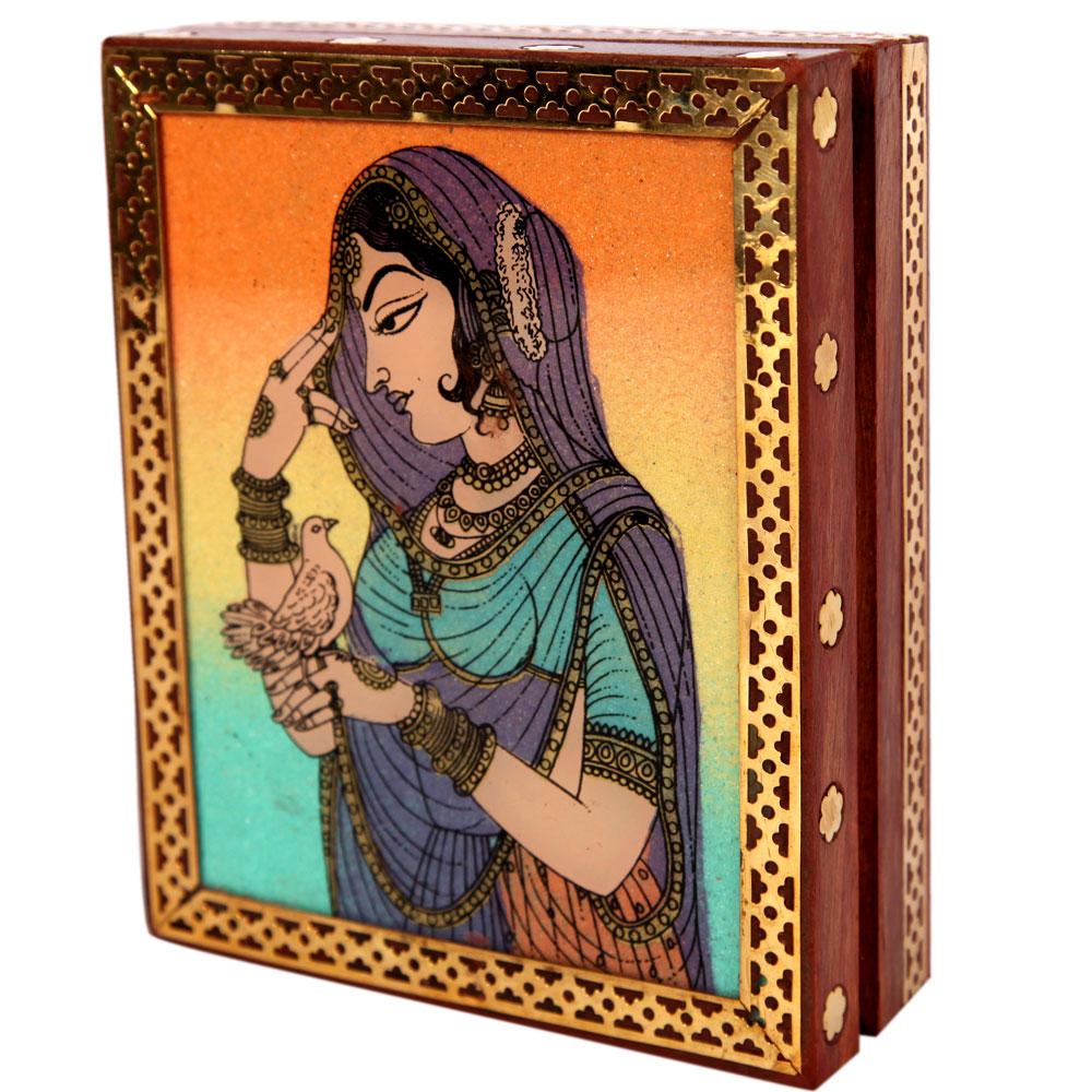 Aapno rajasthan bani thani gemstone jewellery box