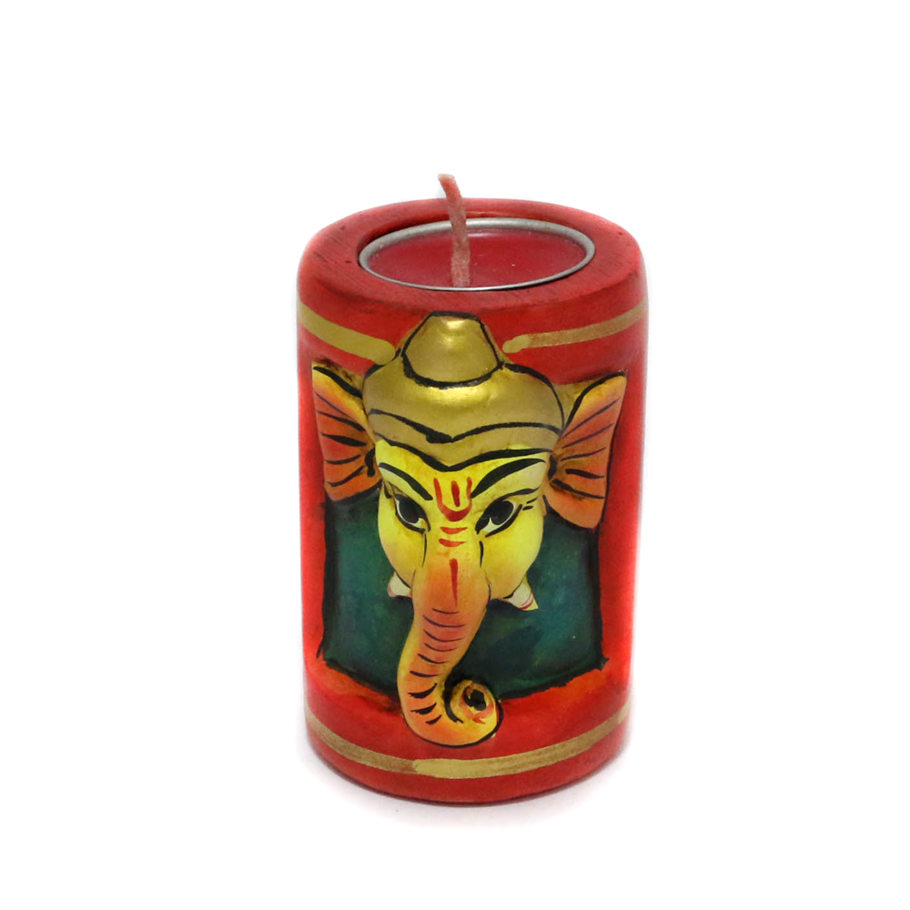 Artistic Ganesha T-Light Candle Stand