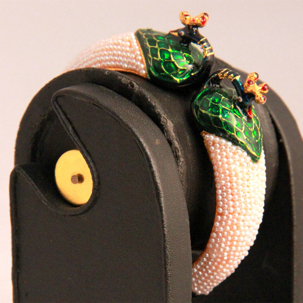 Bangles with peacock heads