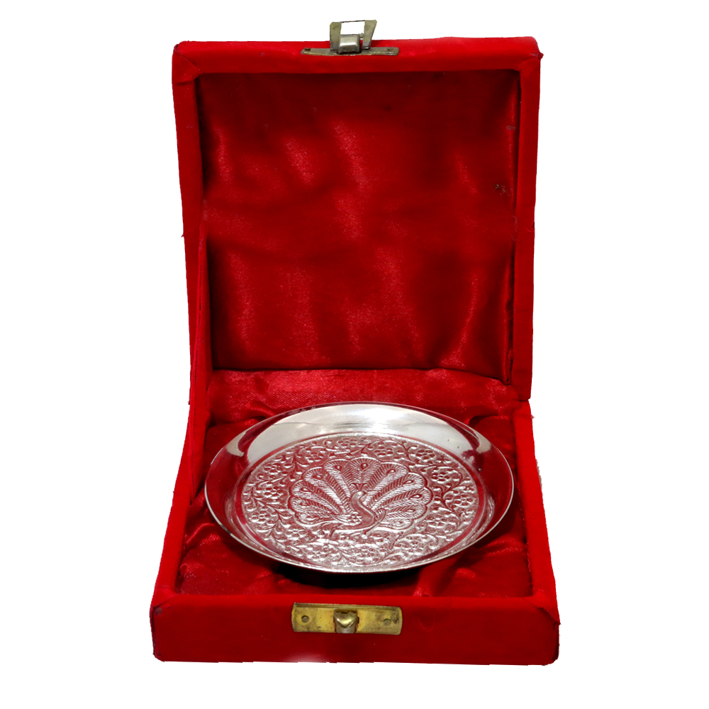 Beautifully crafted serving plate made from german silver