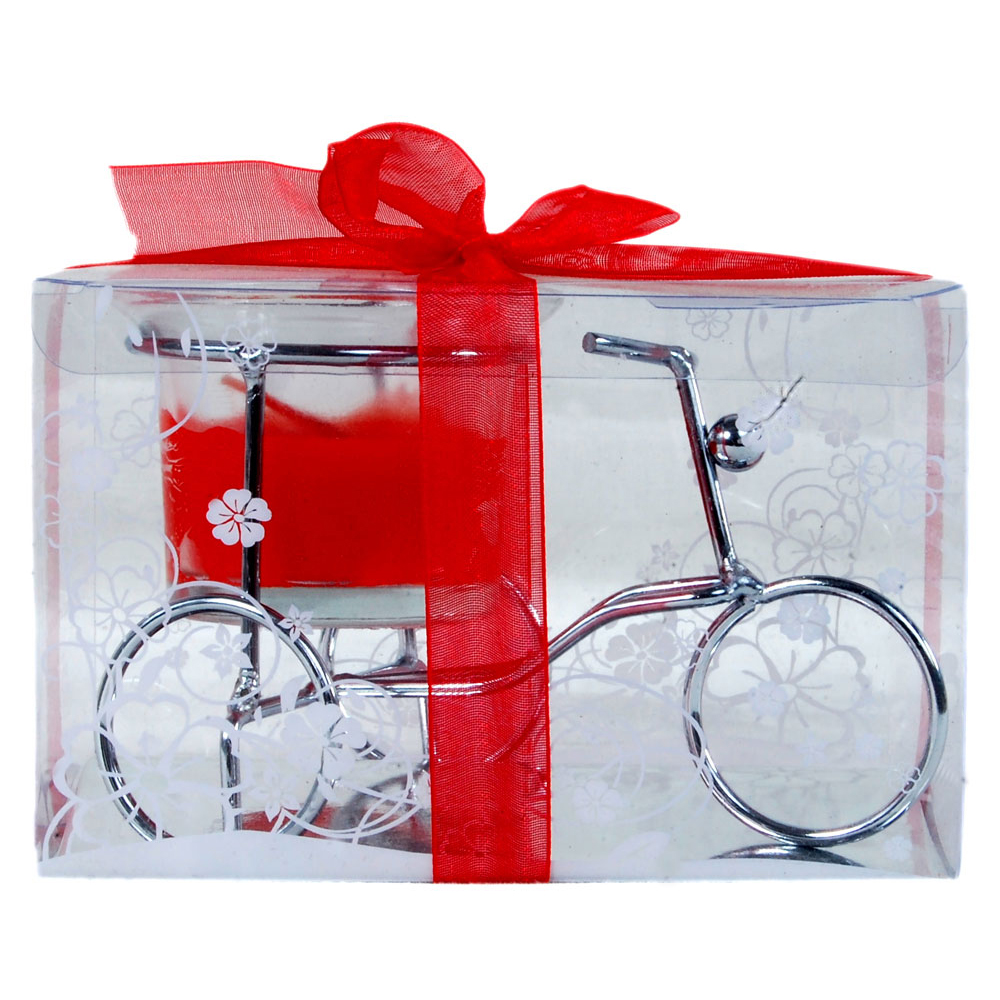 Bicycle shaped gel candle