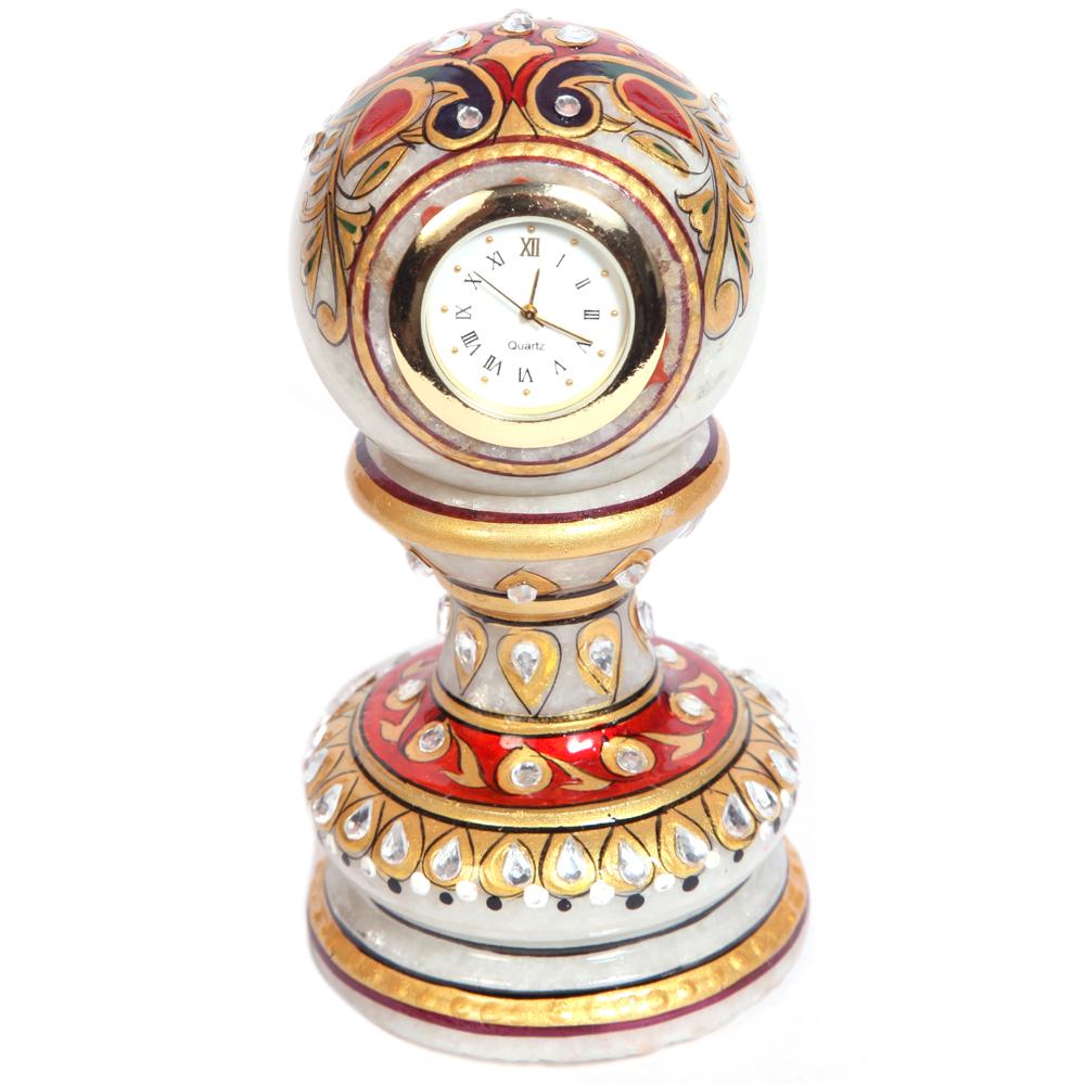 Pillar watch made of minakari marble
