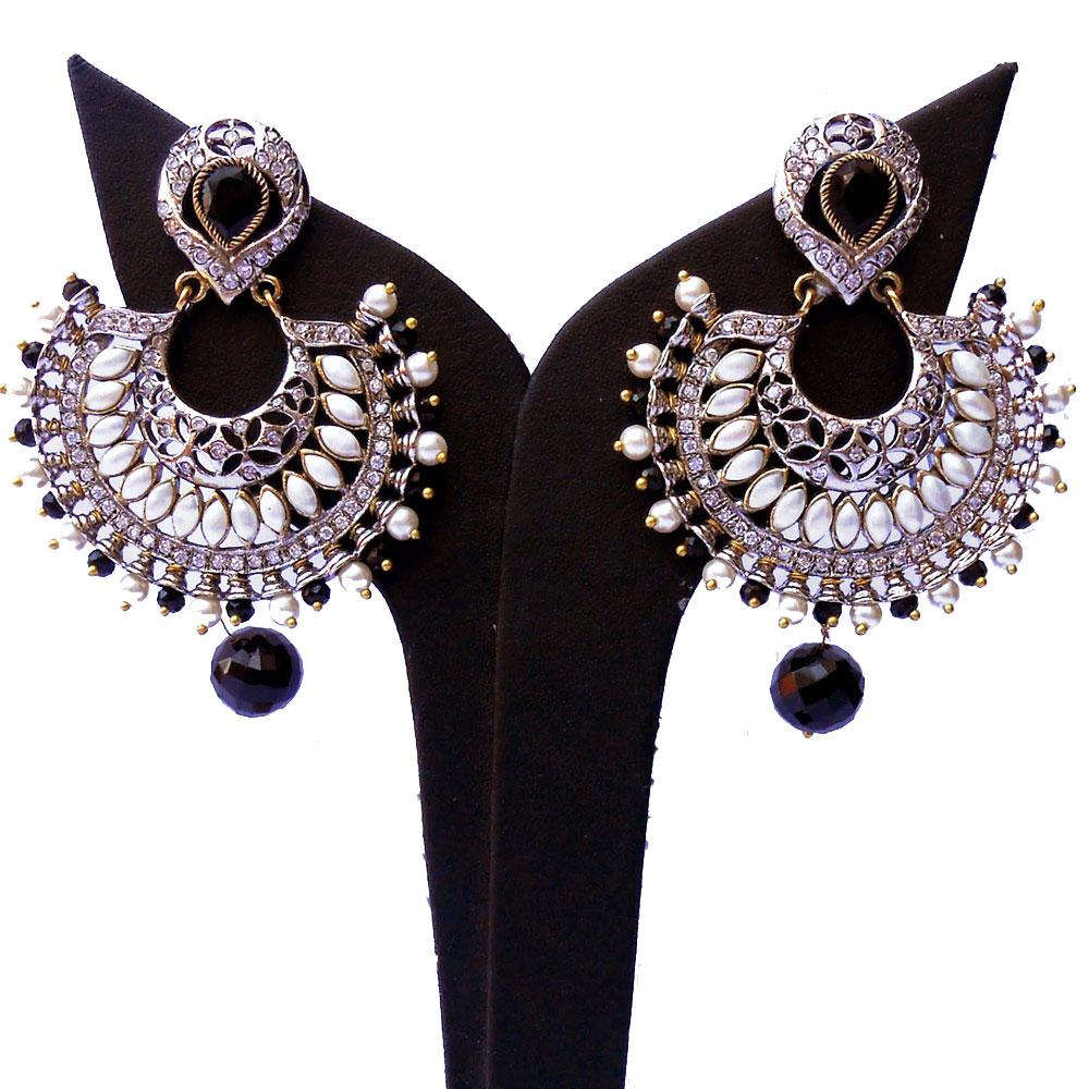Black & white designer earrings