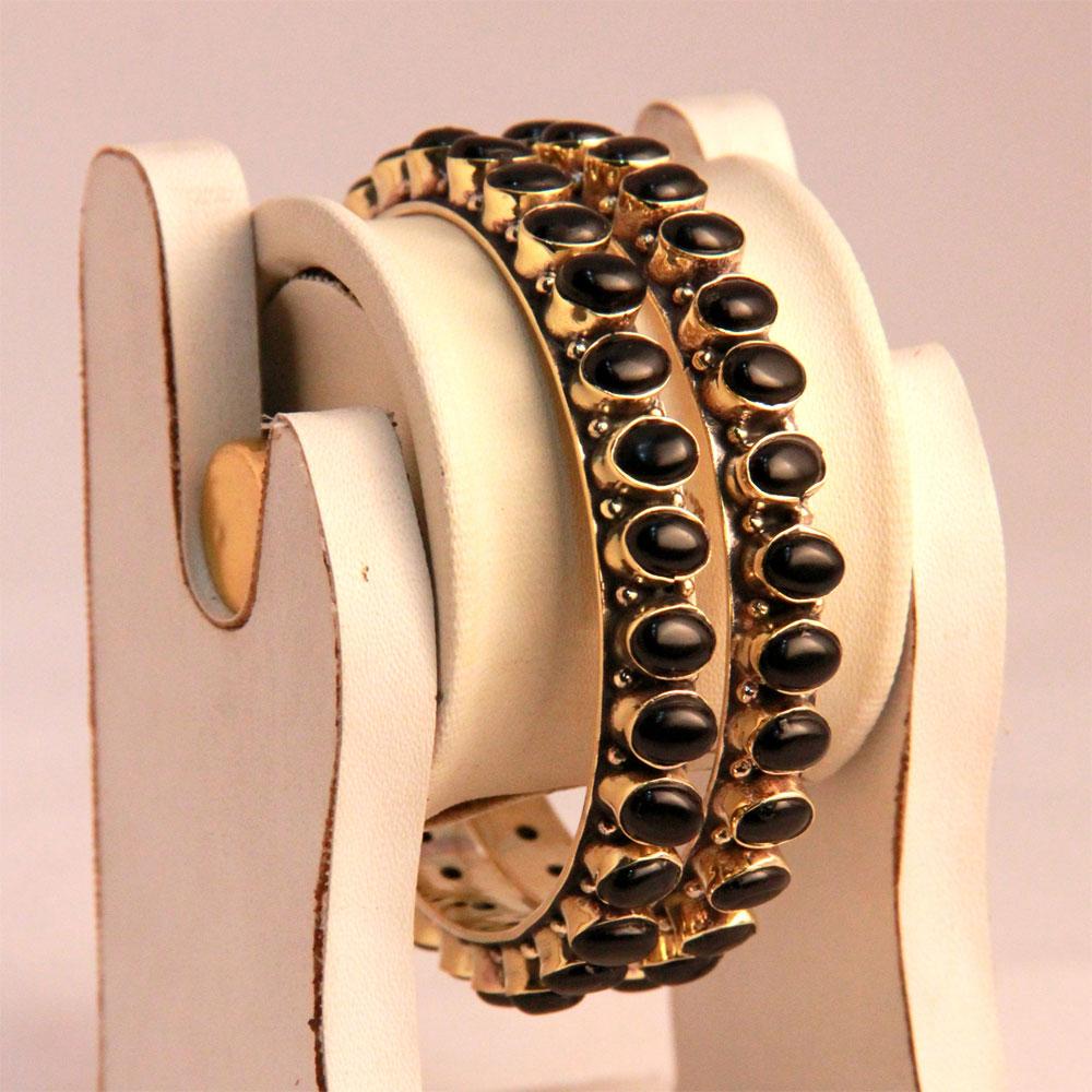 Black onyx bangles