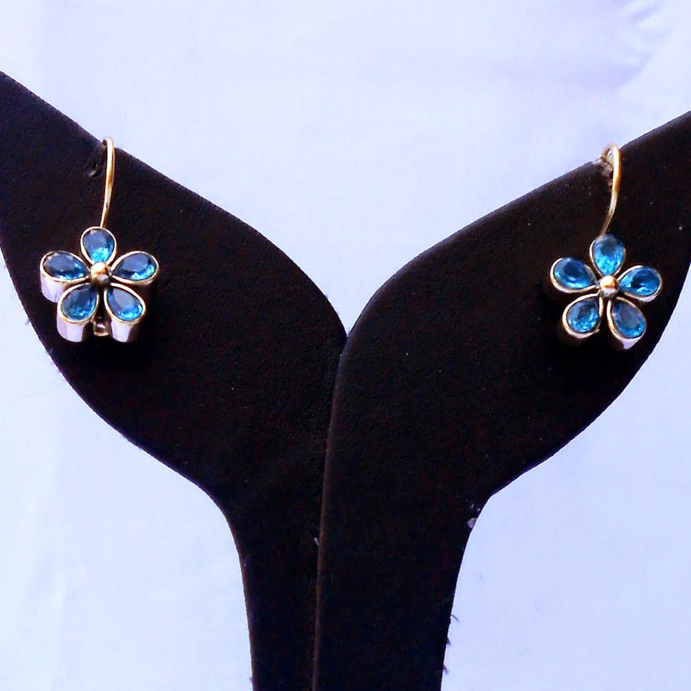 Blue topaz studded designer earrings