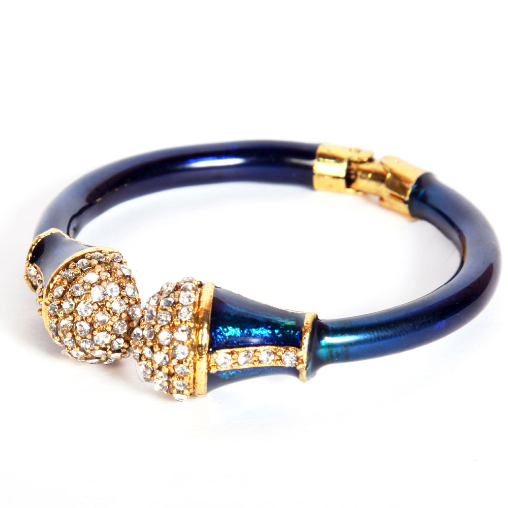 Blue with white ad headed bangles