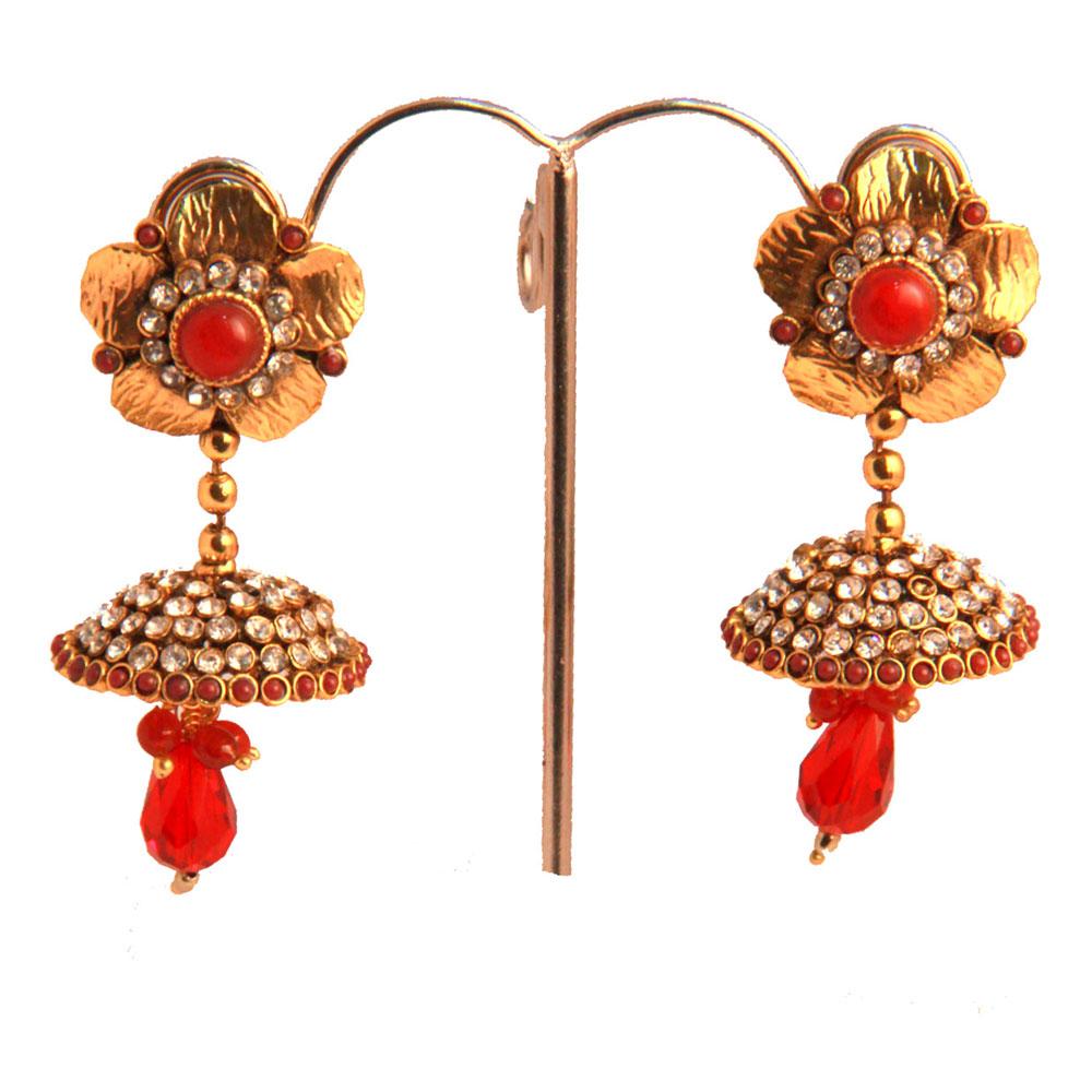 Metal encased earrings