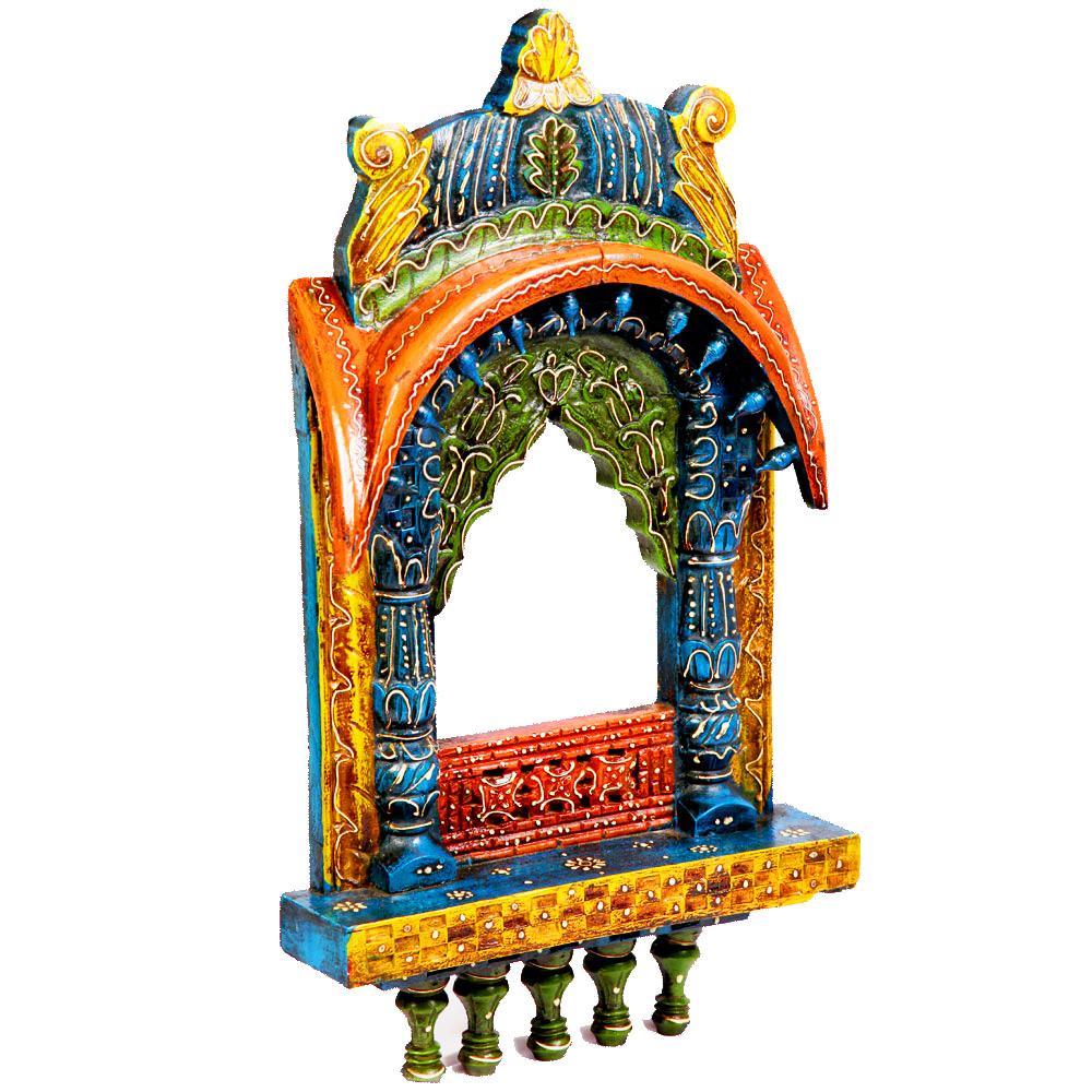 Colored bandhej jharokha