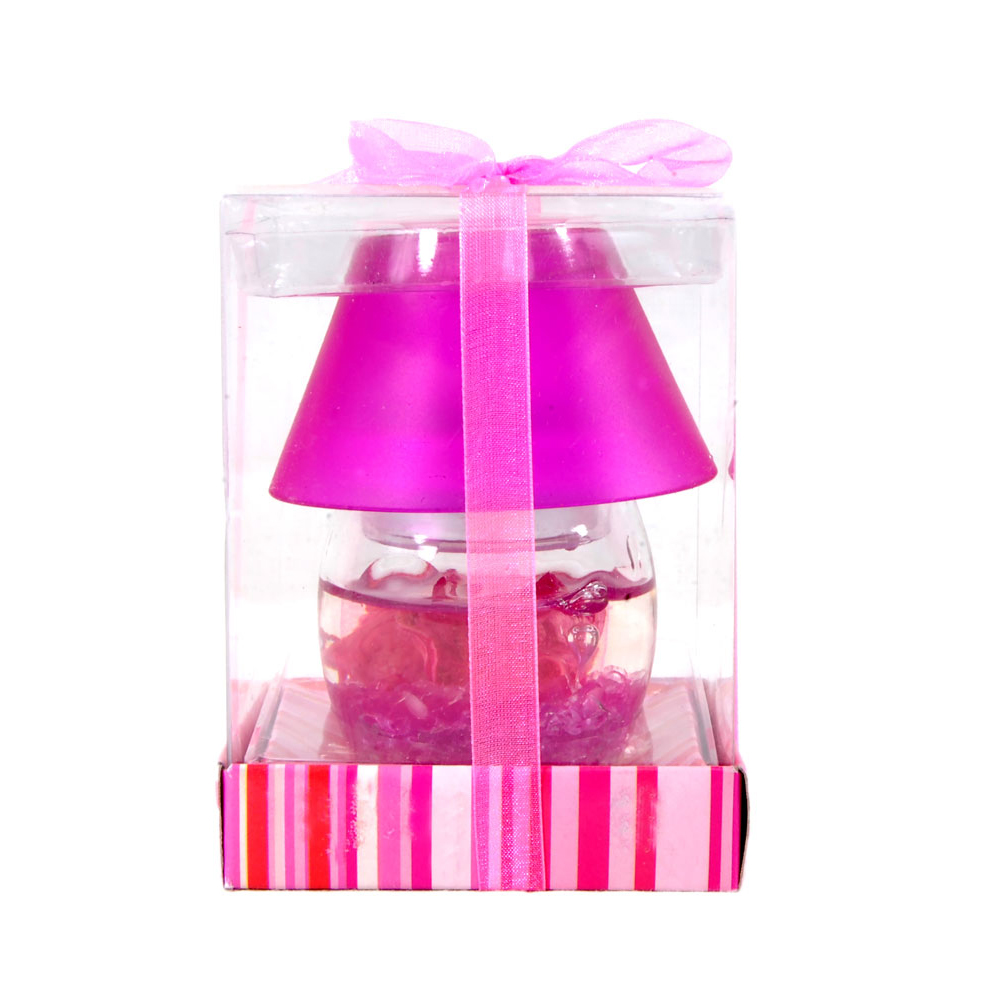 Crystal lamp shaped gel candle