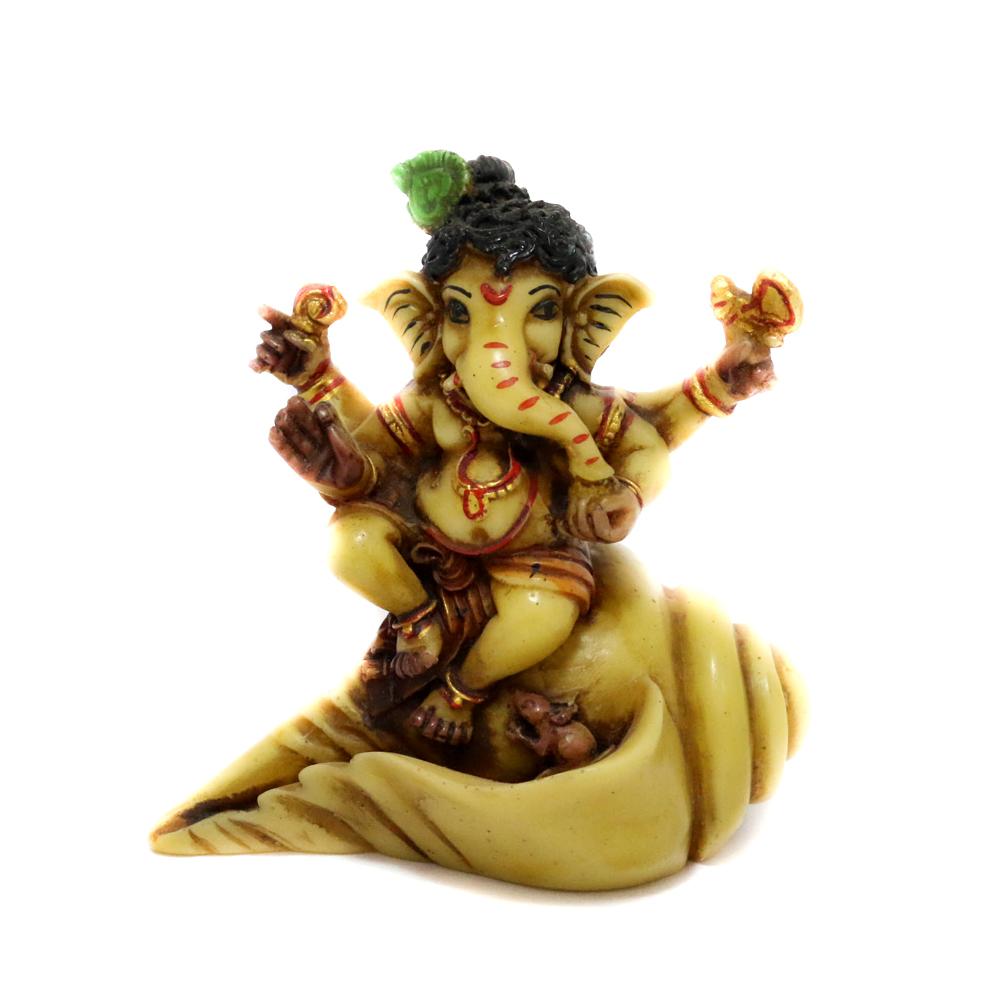 Cute Ganesha on Conch shell