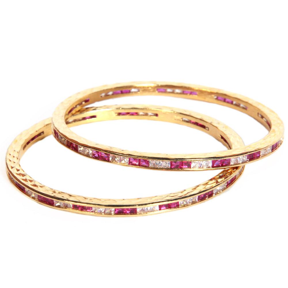 Dazzling ad stone studded bangles