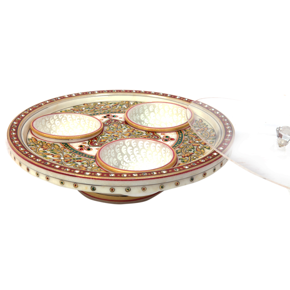 Decorative Marble Mouth Freshener & Dry Fruit Container