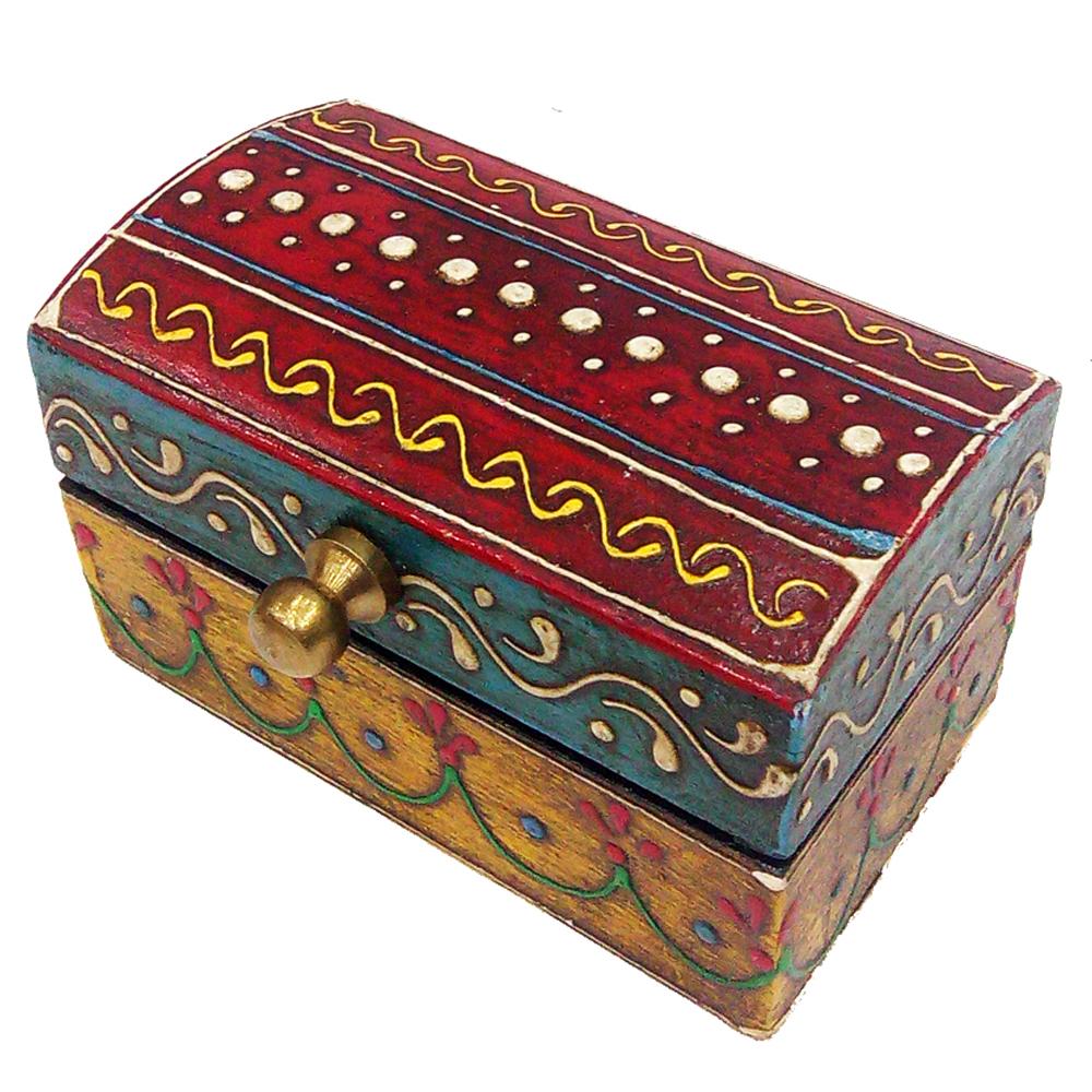 Designer Multicolor Wooden Embossed Box