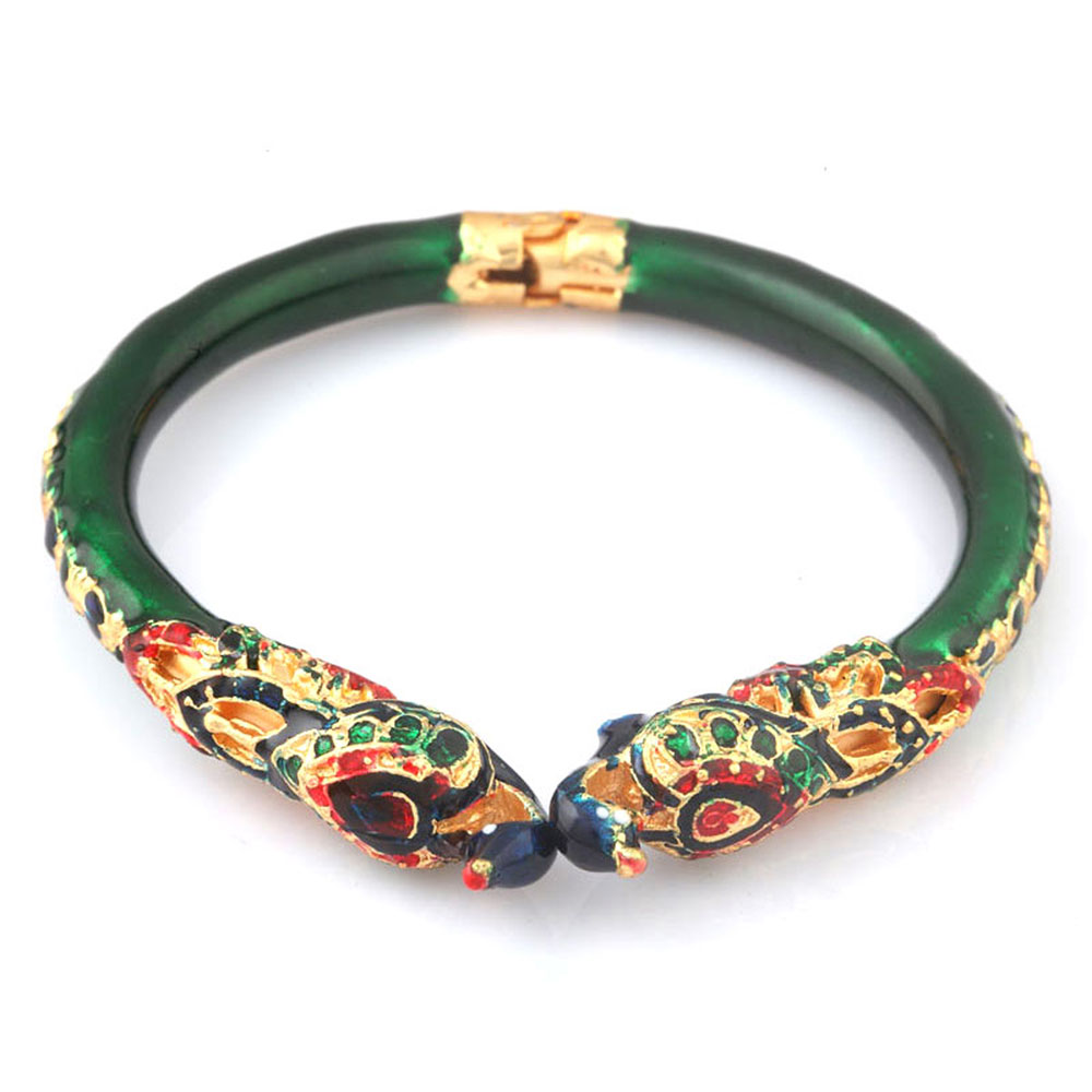 Designer peacock green bangle