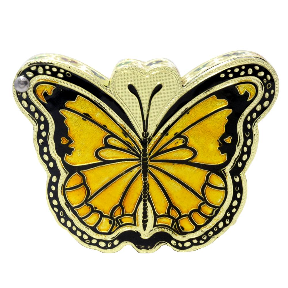 Dry fruit box having butterfly shape having meenakari work on it