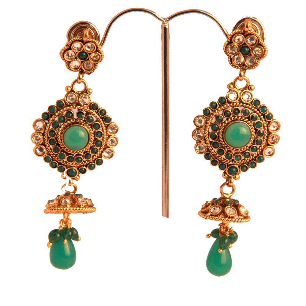Peacock tail long earrings