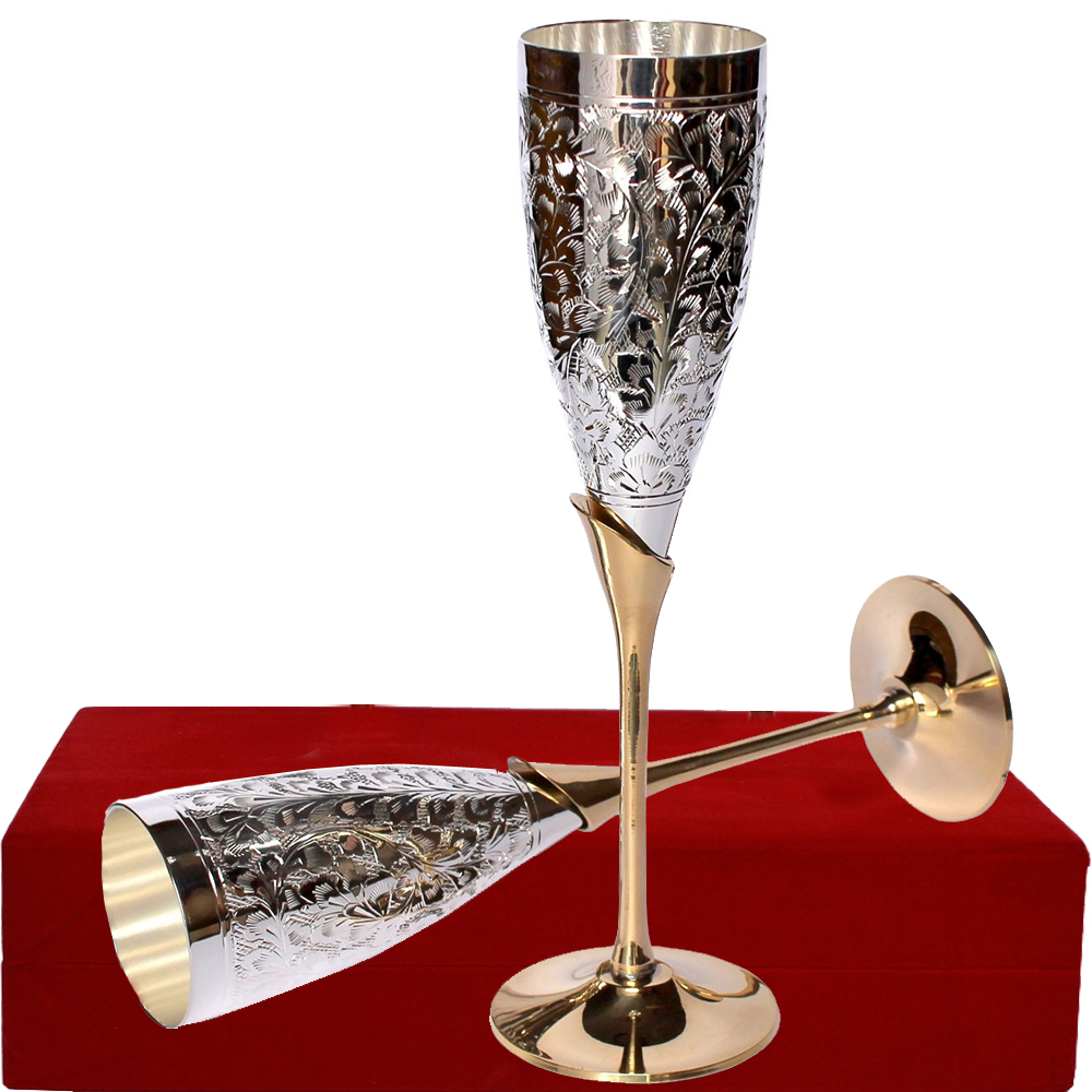 Exquisite German Silver Wine Glasses