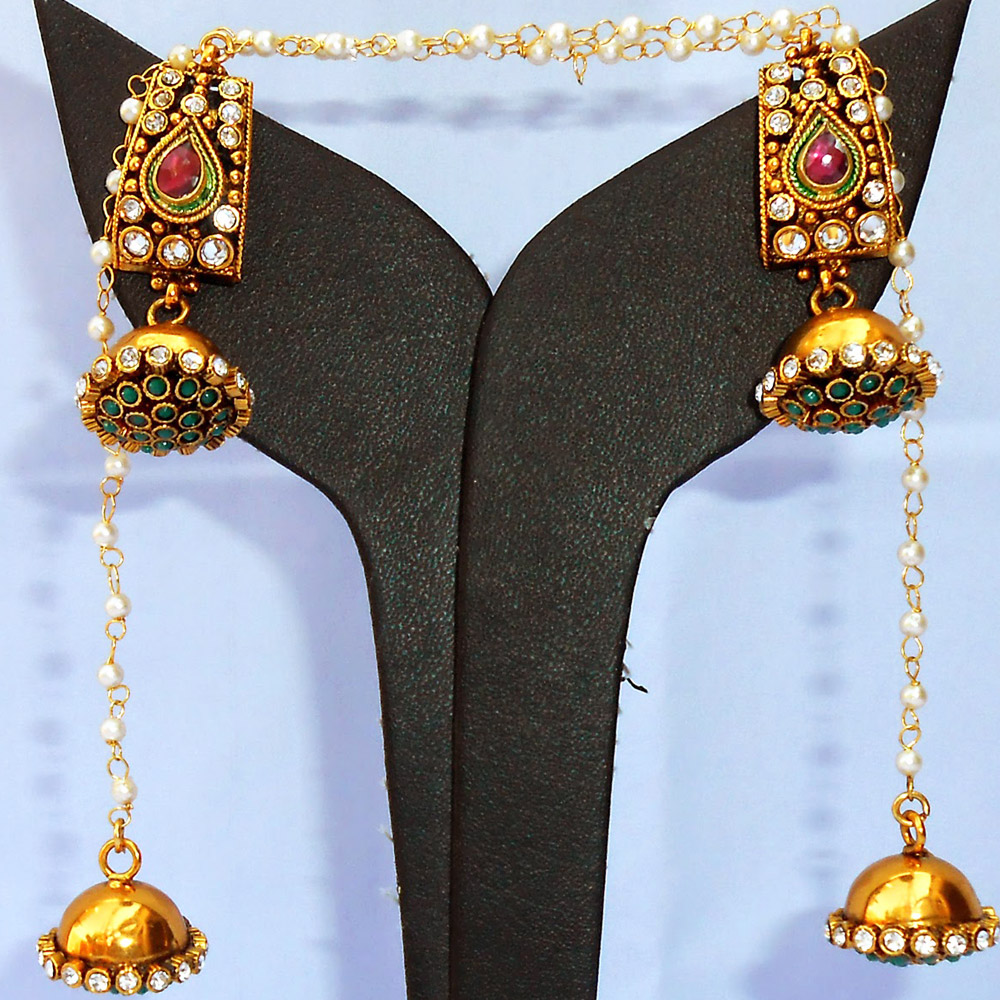 Fashionable jhumki earrings