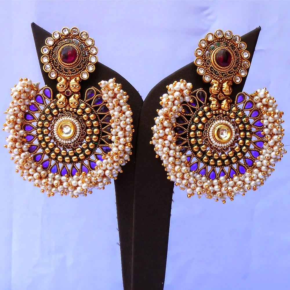 Fashionable purple earrings