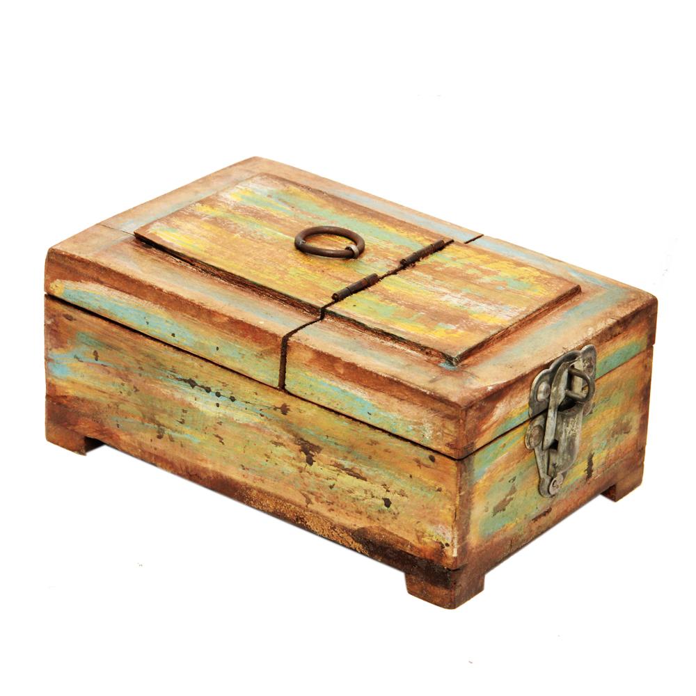 Antique Wooden Makeup Box