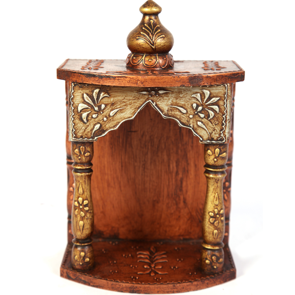 Exquisitely Carved Wooden Temple