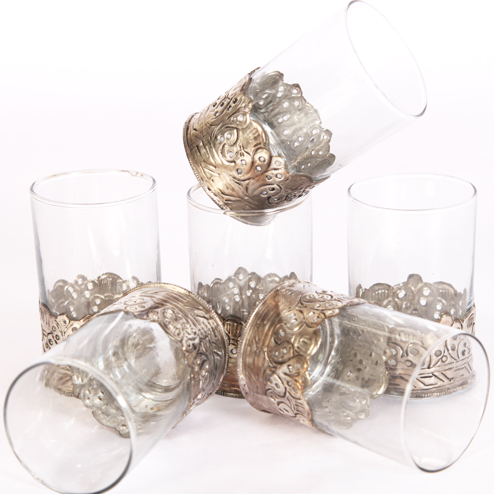 Oxidized 6 Piece Glass Set
