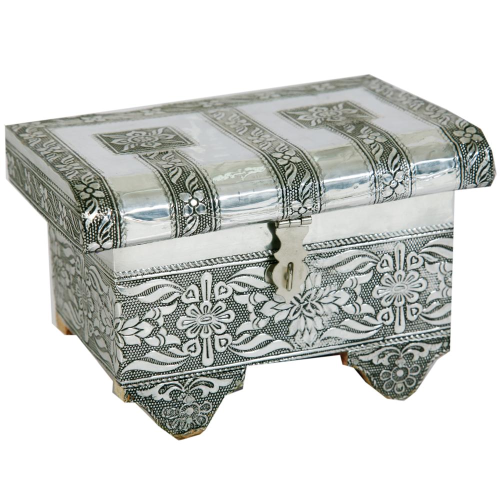 Floral Design Oxidized Jewellery Box