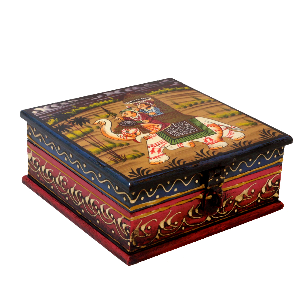 Exquisitely Painted Wooden Handcrafted Box
