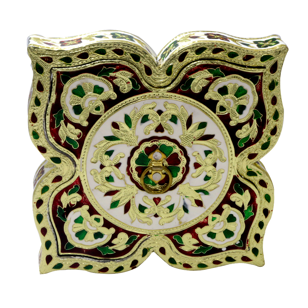 Appealing Meenakari Designed Wooden Handmade Box