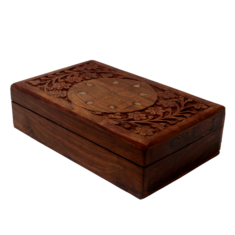 Rich hand crafted box made of finest quality wood