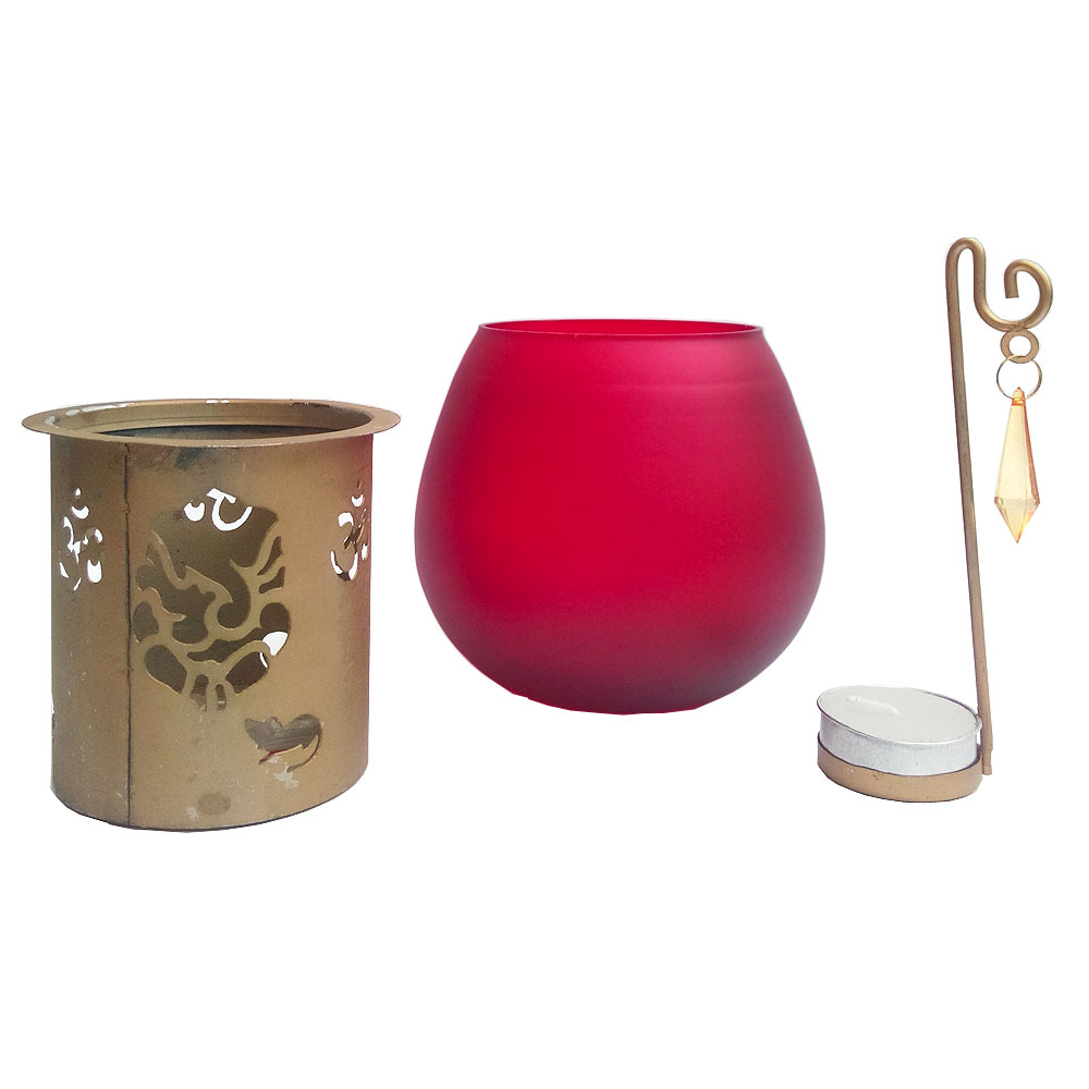 Ganesha design with aroma oil burner candle with t-lite candle