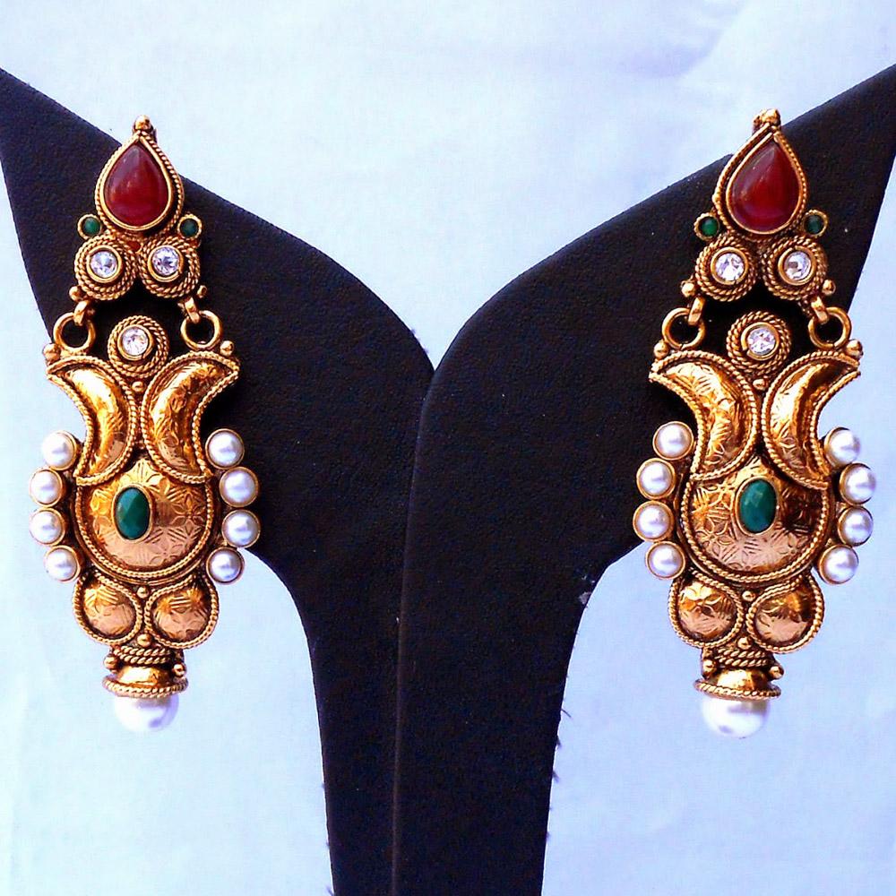Gem studded designer earrings