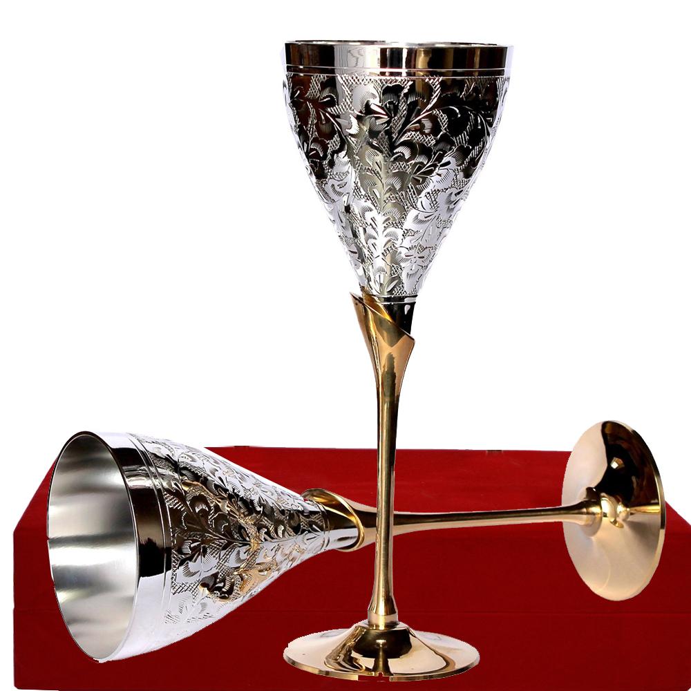 German Silver Wine Glass Set