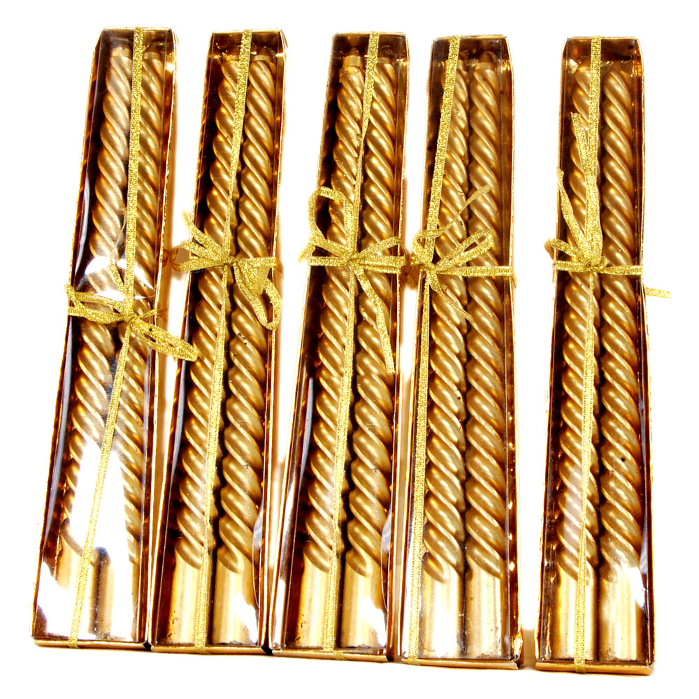 Golden colored candle sticks