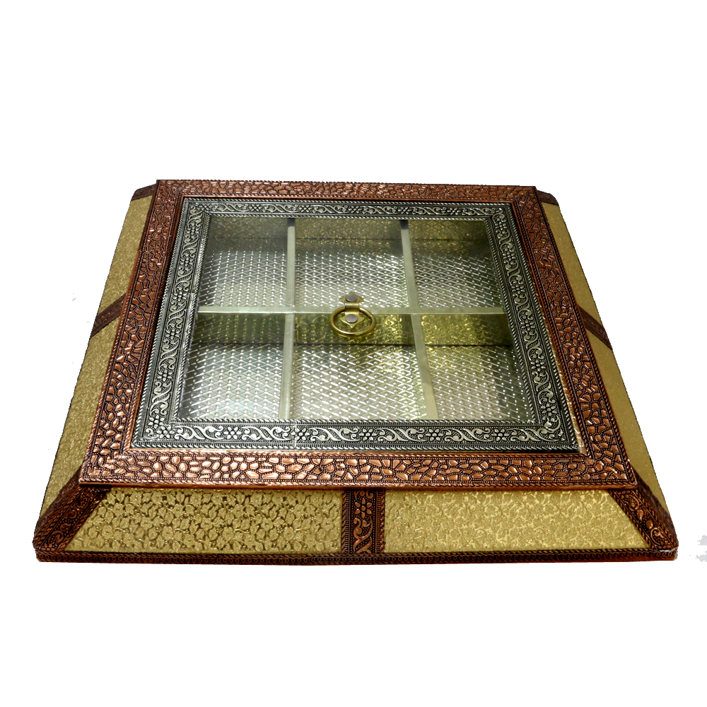 Incredible wooden dry fruit box with transparent lid