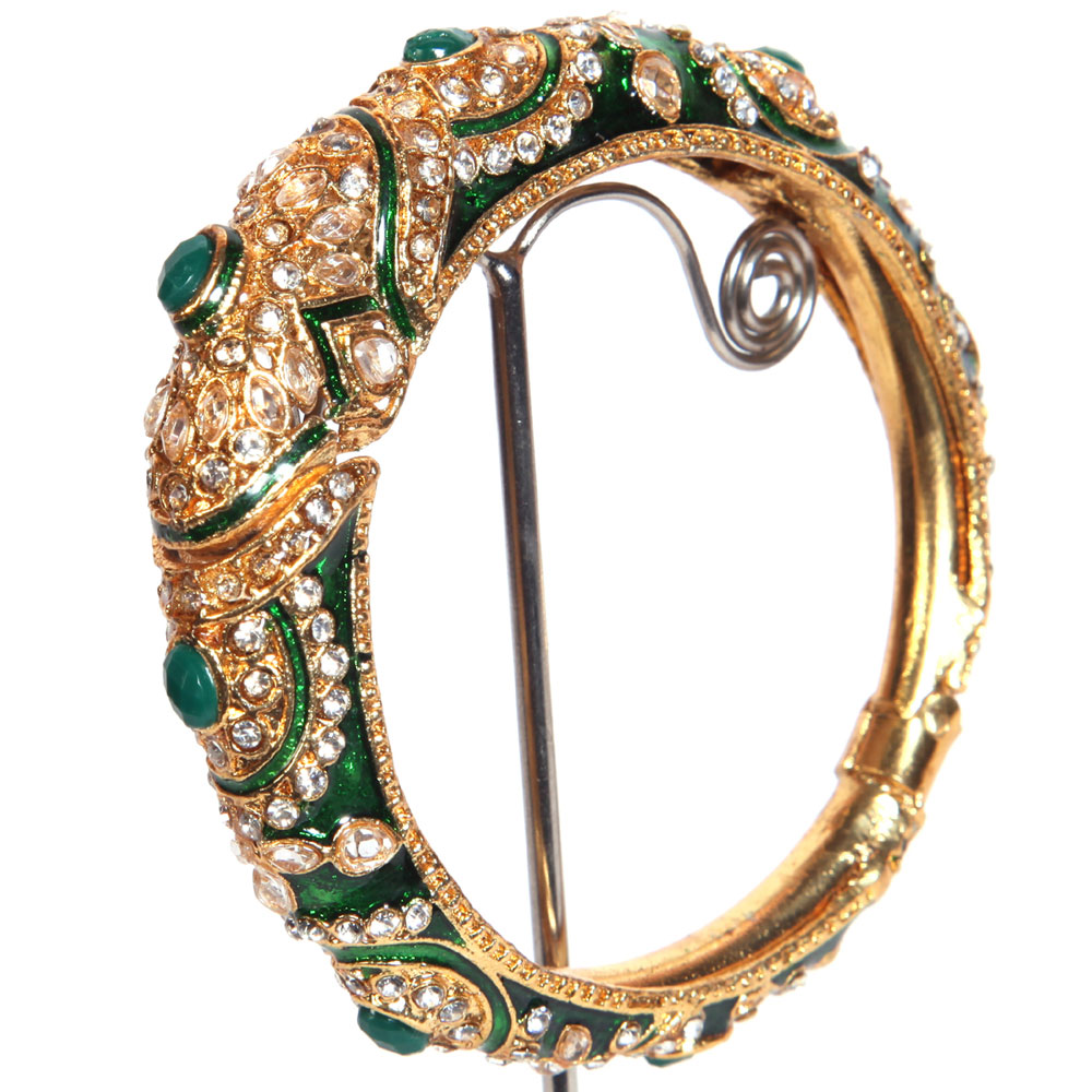 Intricate gold plated bangles