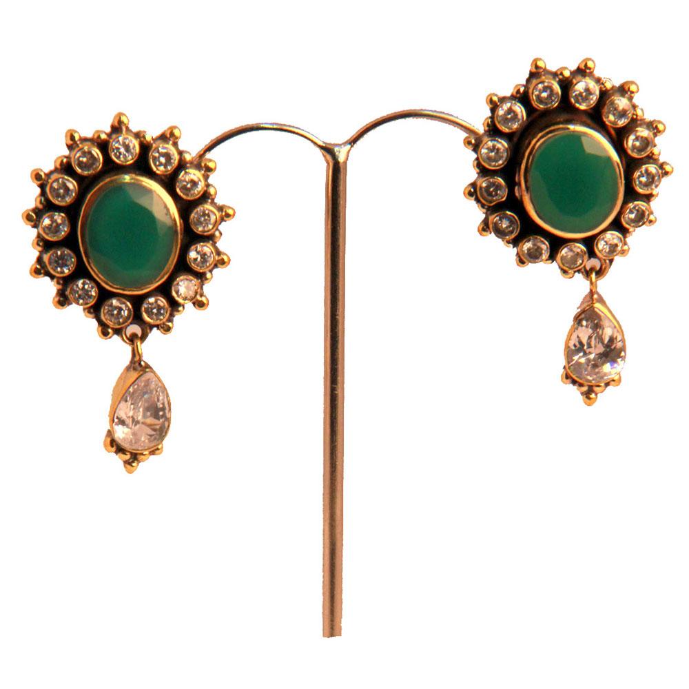 Kundan heavy earrings