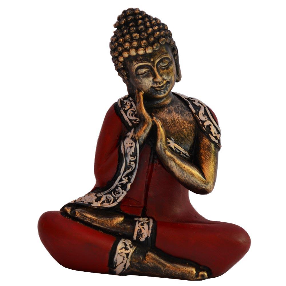 Meditative Thai Buddha Statue In Fiber