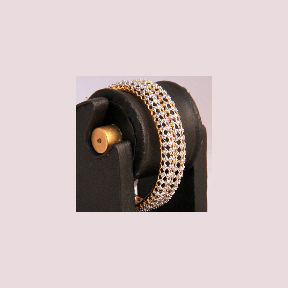 Mesh adorned ad bangles