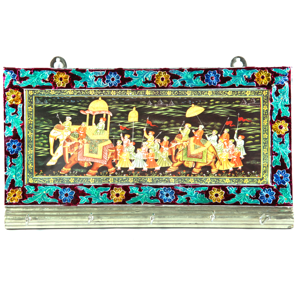 Metal keyholder with Meenakari work