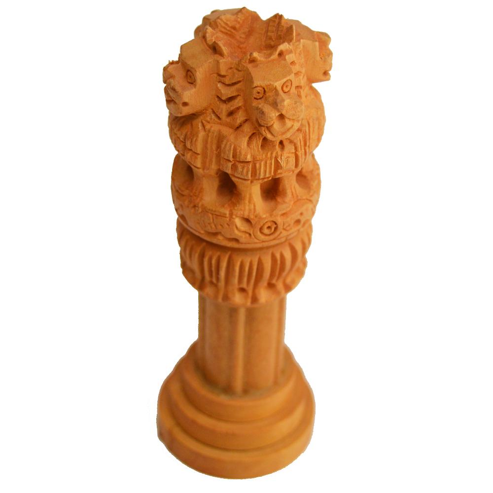Miniature Wooden Ashok Stambh