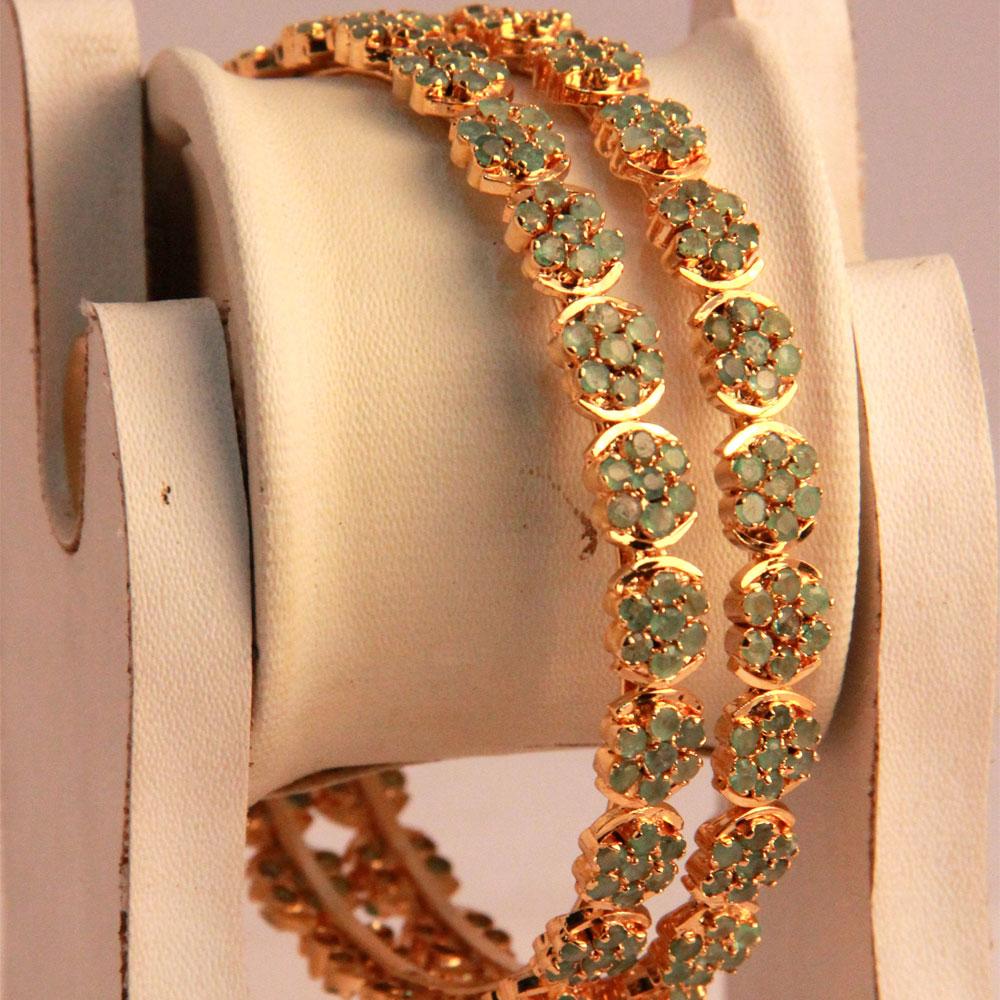 Narrow brassed bangles