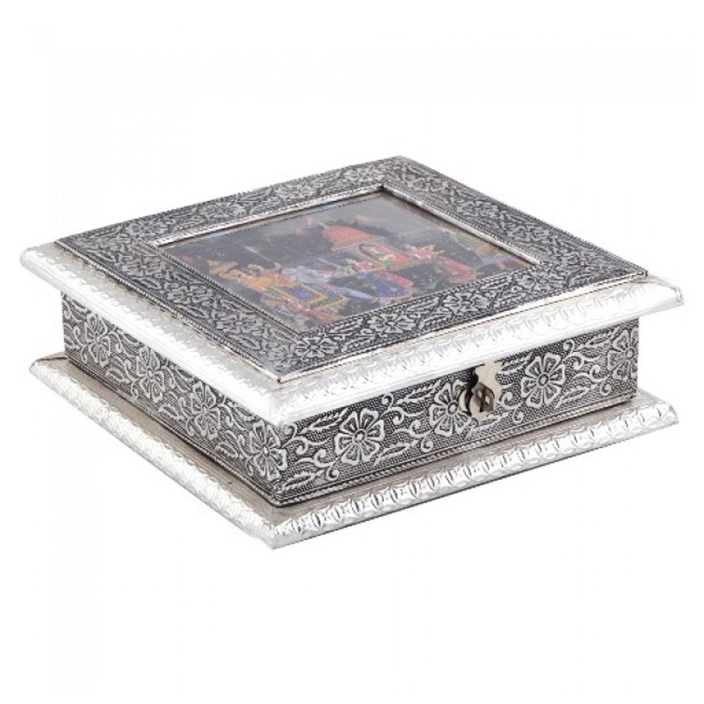 Oxidized rectangular dryfruit box
