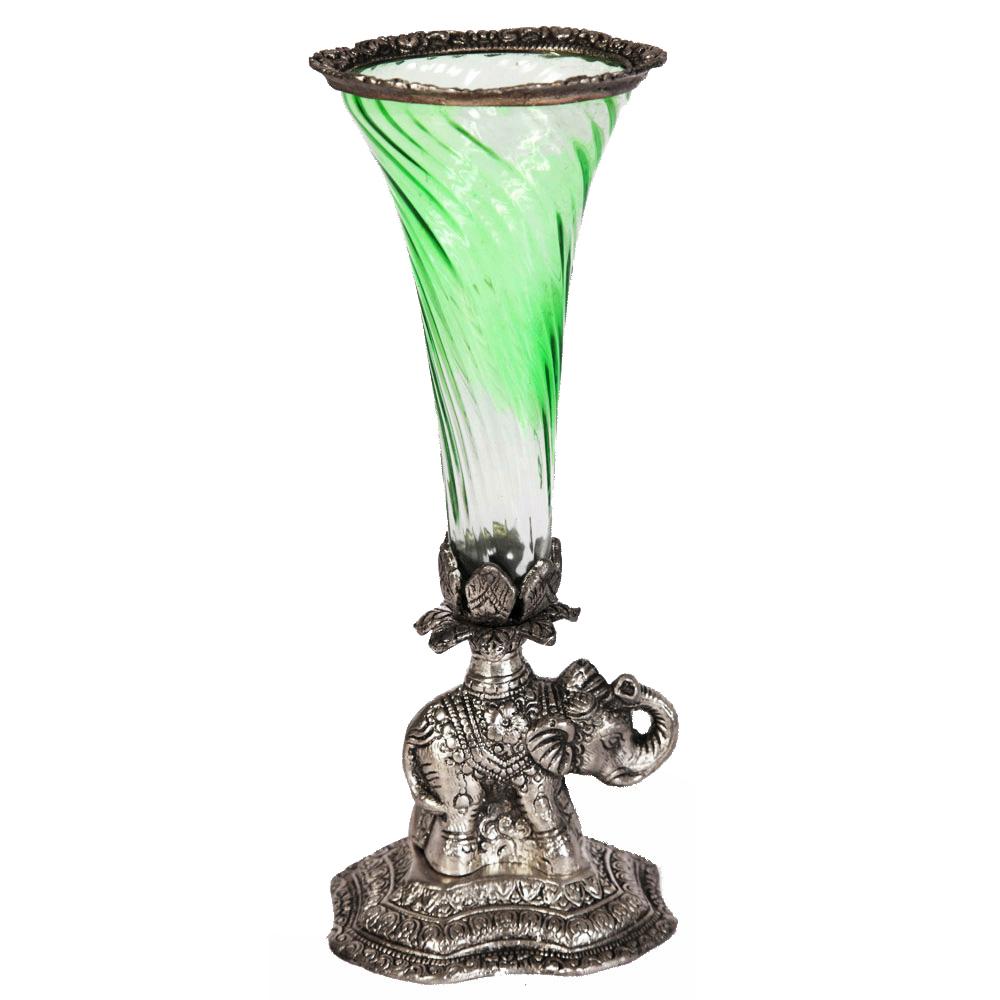 Oxidised elephant shaped flower pot
