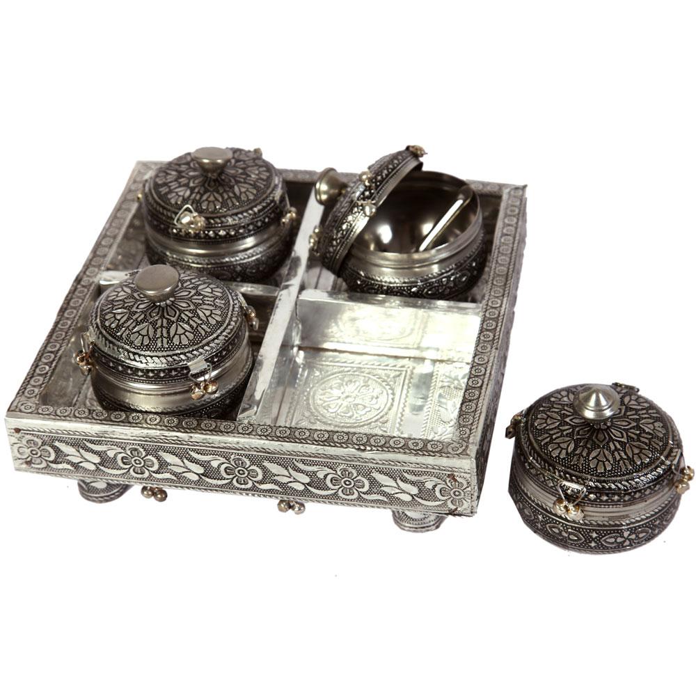 Oxidised ethnic dry fruit box